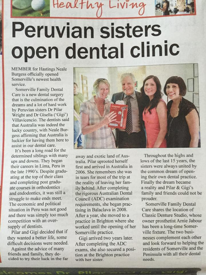 Peruvian Sisters Open Dental Clinic